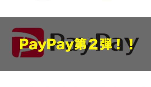 PayPayの付与がはじまる!第2弾でお得に買い物をするにはどこが良い?